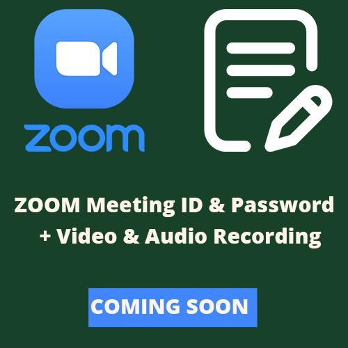 Zoom_Audio & Video - Coming Soon